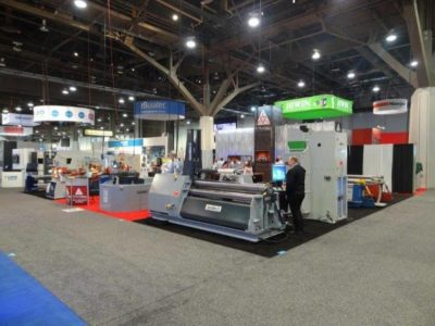Swebend exhibition stand Fabtech Expo